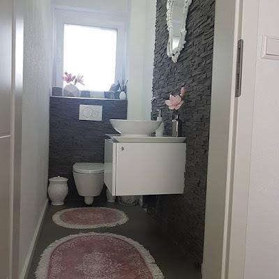 ukuran kamar mandi sederhana batu alam