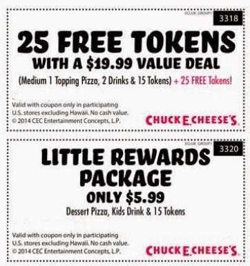 chuck e cheese coupons 2016