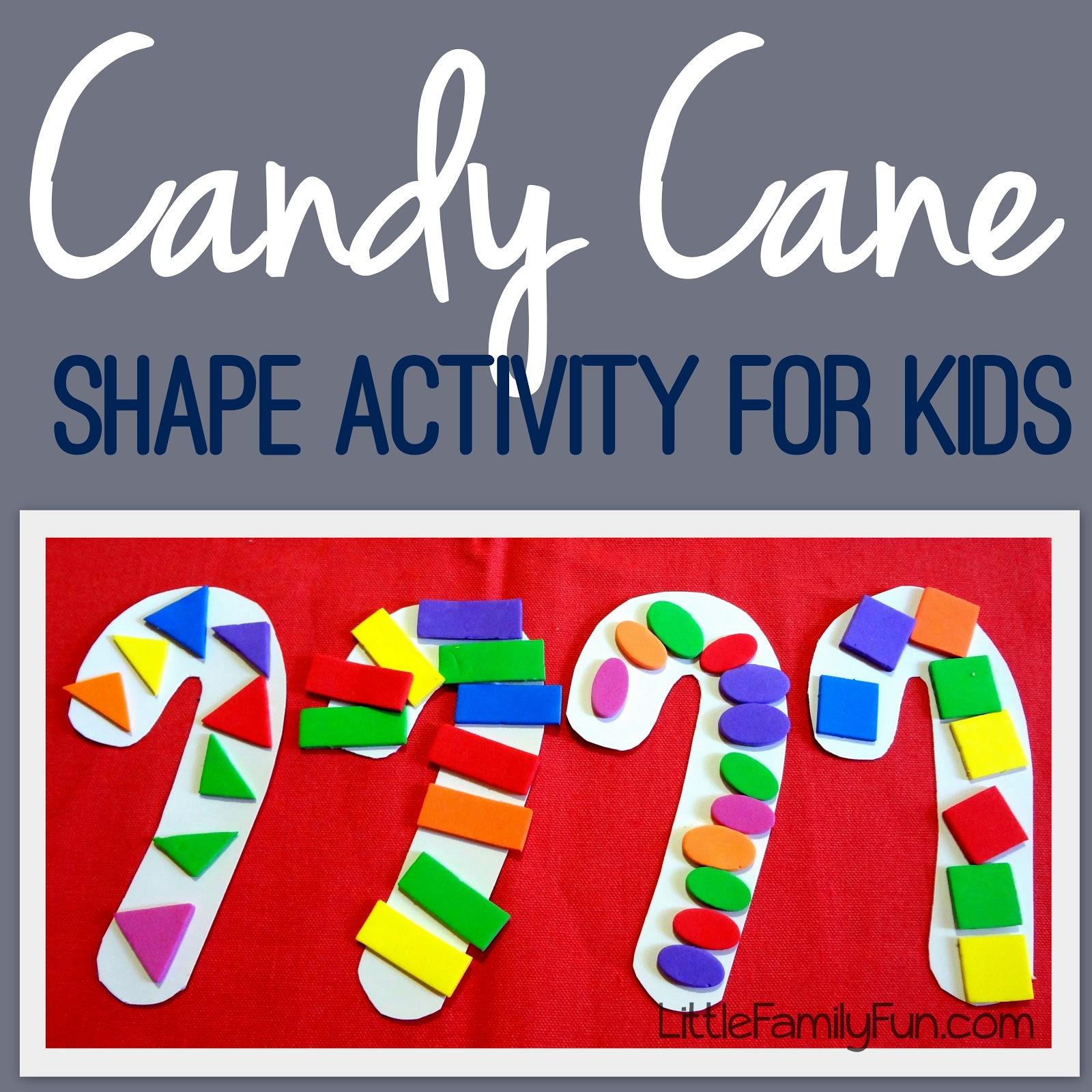 Candy Cane Shape Activity