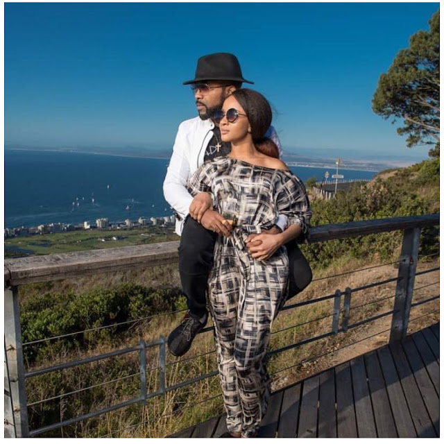More Romantic photos of Banky W and Adesua in Cape town