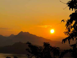 Sunset Phu Si Hill Luang Prabang Laos