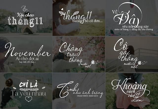 [PSD] Typography tiếng việt đẹp cho tháng 11