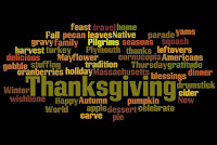 Thanksgiving Word cloud image (Thanksgiving, feast, travel, home, Fall, pecan, leaves, Native, yams, gravy, family, Pligrims, seasons, squash, harvest, holiday, autumn, cider, parade, turkey, Plymouth, thanks, leftovers, Americans, delicious, Mayflower, cornucopia, gratitude,dinner, winter, pumpkjn, apple, dessert, celebrate,carve, pie, world