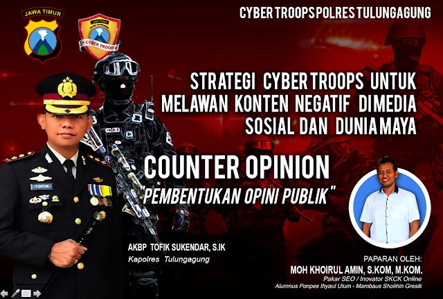Strategi Cyber Troops Polres Tulungagung Dalam Melawan Konten Negatif