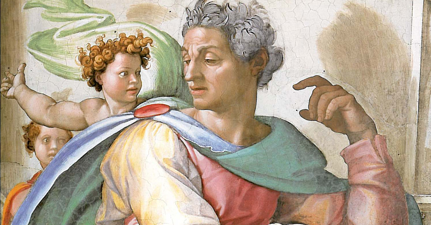 The Prophet Isaiah (Sistine Chapel), by Michaelangelo (1475-1564). Wikimedia Commons (public domain; edited).
