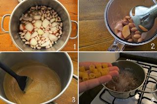 foto preparazione Ricetta pasta con crema di fagioli freschi per bambini