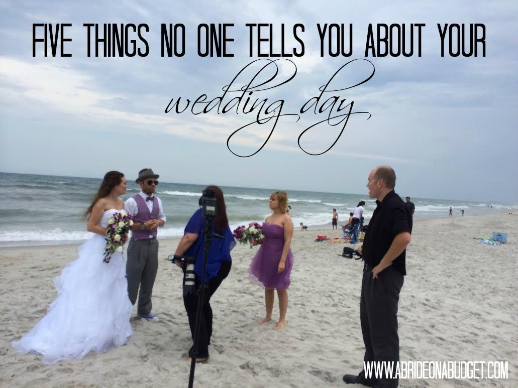 五件事 - 没有人告诉你 - 关于你的婚礼日