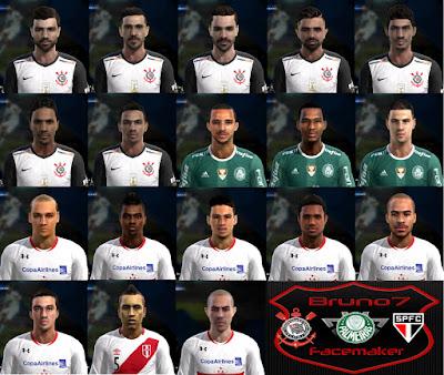 PES 2013 MegaFacepack Corinthians+Palmeiras+SãoPaulo Série A Updt 2016 by Bruno7 Facemaker