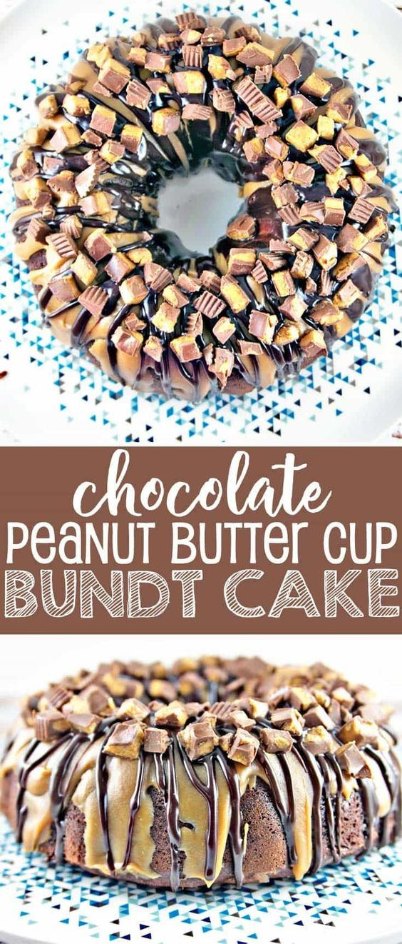 Chocolate Peanut Butter Cup Bundt Cake Recipe