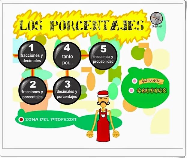 """""""Los porcentajes"""" (Aplicación interactiva de Matemáticas de Primaria)"""
