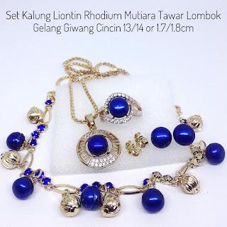 Harga Set Perhiasan Lengkap Mutiara Biru
