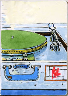 """Howie's Rig"" - Watercolor by Paul Sherman"