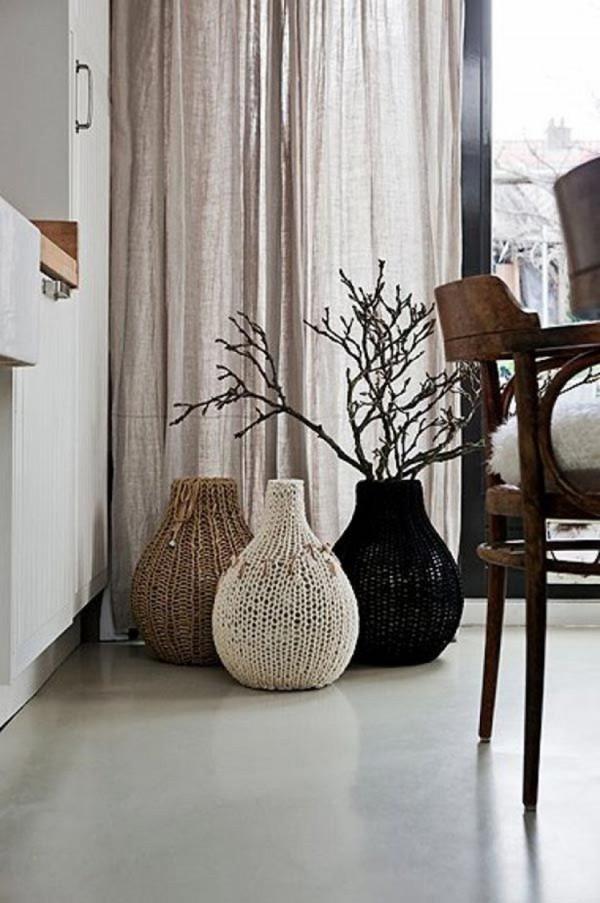 24 Ιδέες με βάζα δαπέδου για μια κομψή διακόσμηση του σπιτιού