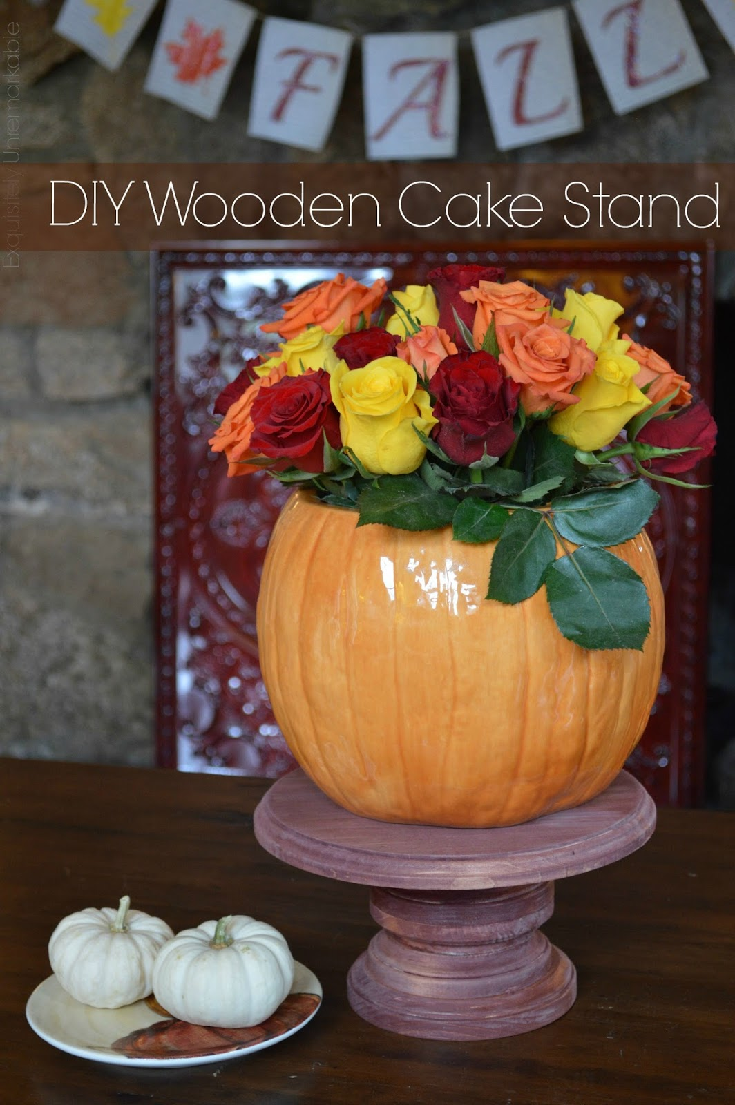 easy diy wooden cake stand