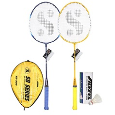 Silver SB 503 Combo ( 2 Pcs. Badminton Racket + 1/2 Cover + Pack of 3 Shuttle Cock) for Rs.464 Only (Limited Period Deal)Free Home Delivery