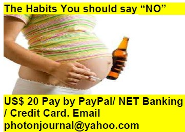 "The Habits You should say ""NO"" pregnancy book"