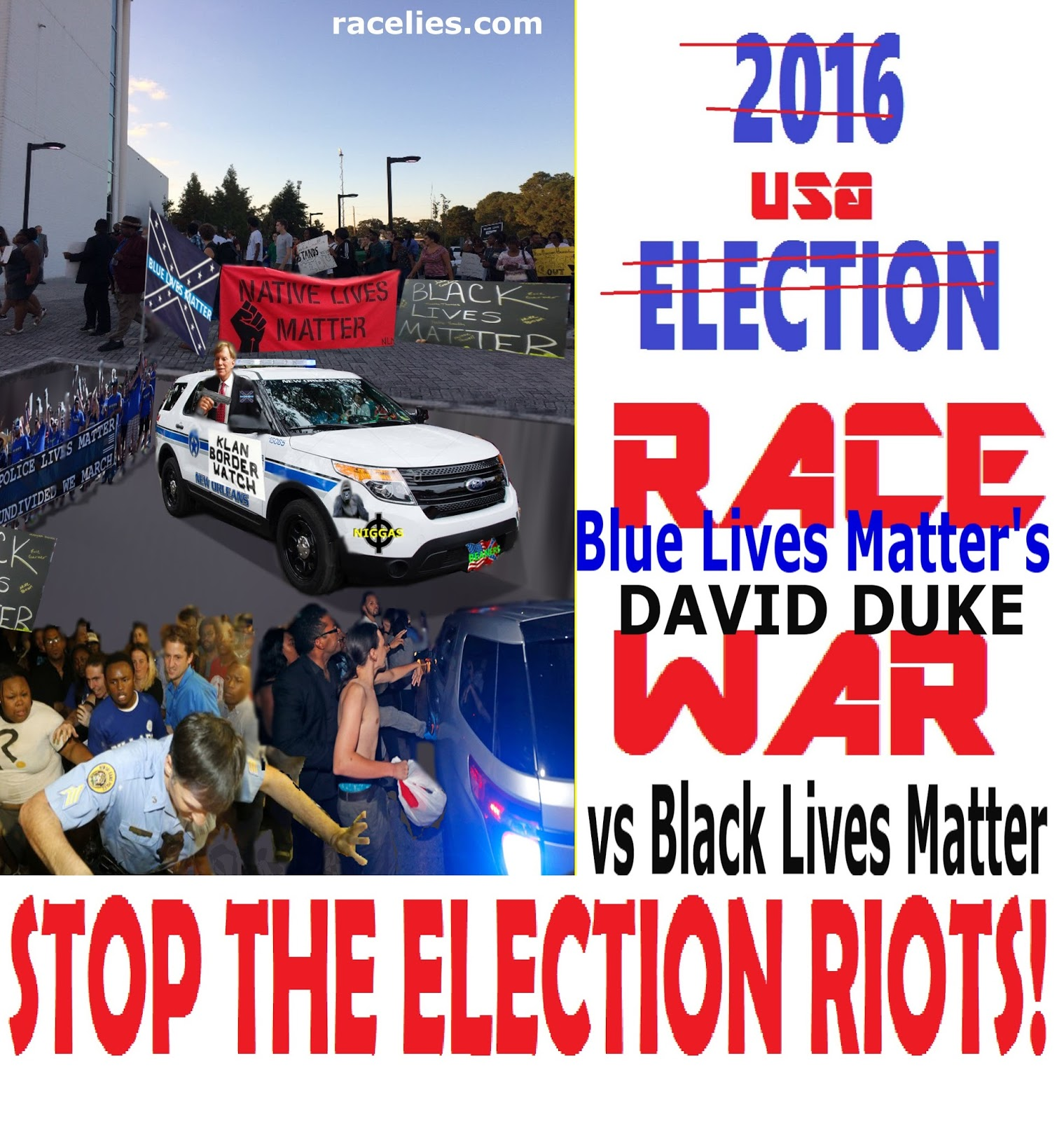 race lies 2016 stop the usa election riots is the david. Black Bedroom Furniture Sets. Home Design Ideas