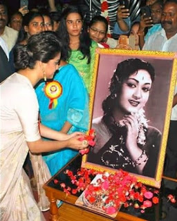Keerthy Suresh in Saree with Cute Smile for Mahanati Felicitation in Tirupathy
