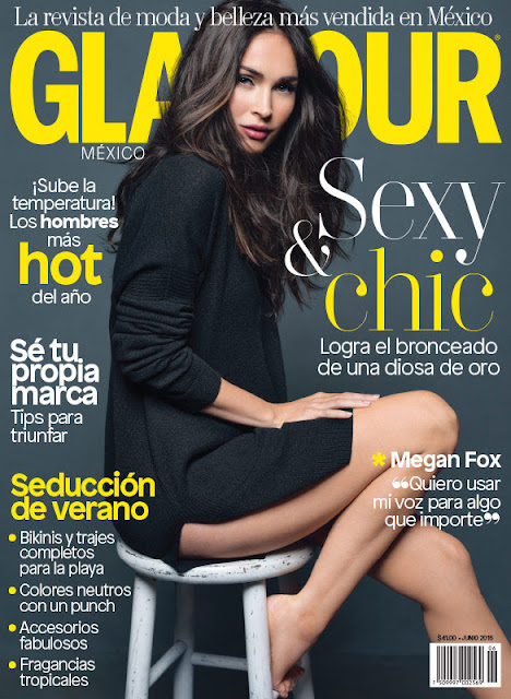 Actress, Model, @ Megan Fox - Glamour Mexico, June 2016