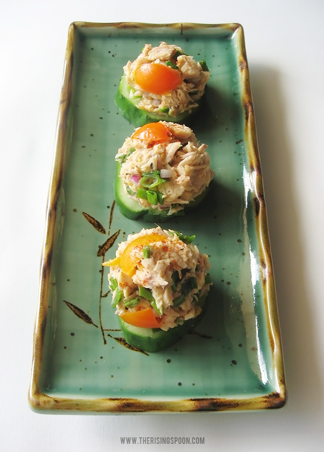 Healthy Tuna Salad and Cucumber Bites Without Mayo