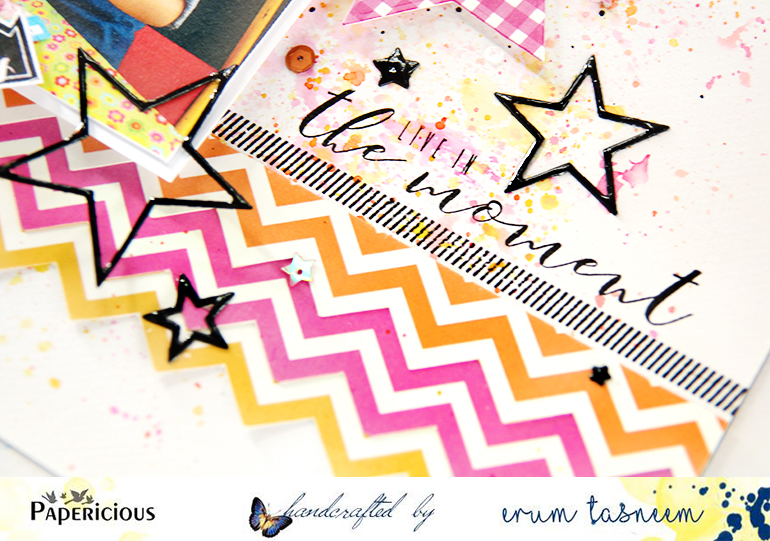 Papericious Back to Basics paper pack. Layout by Erum Tasneem | @pr0digy0