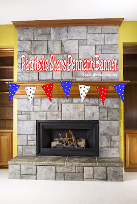 No matter what kind of party you are having, pennant banners are a simple but awesome way to add some extra flair.  This patriotic stars printable pennant banner is perfect for a Patriotic party any time of year or for any type of fun.