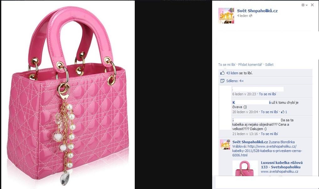331f228744 Stejná kabelka jen v jiné barvě. Eshopu ladylove.cz naprosto s klidem  přiznává