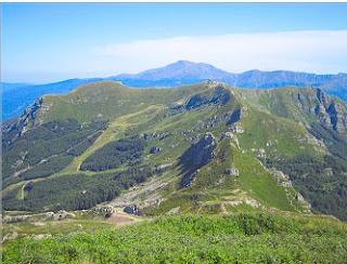 The terrain around the Abetone Pass. north of Pistoia, where Duccesci's brigade made a noteworthy capture