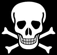 Dyanid - blåsyre - svært giftig. Symbol.