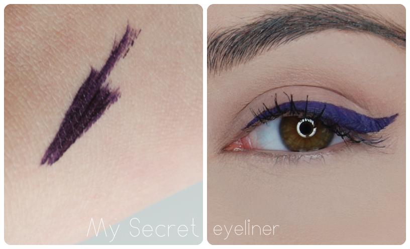 śliwkowy eyeliner