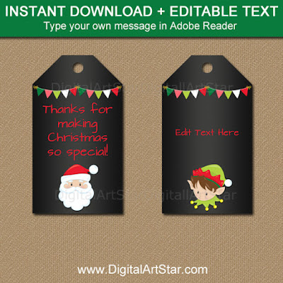 downloadable christmas tags