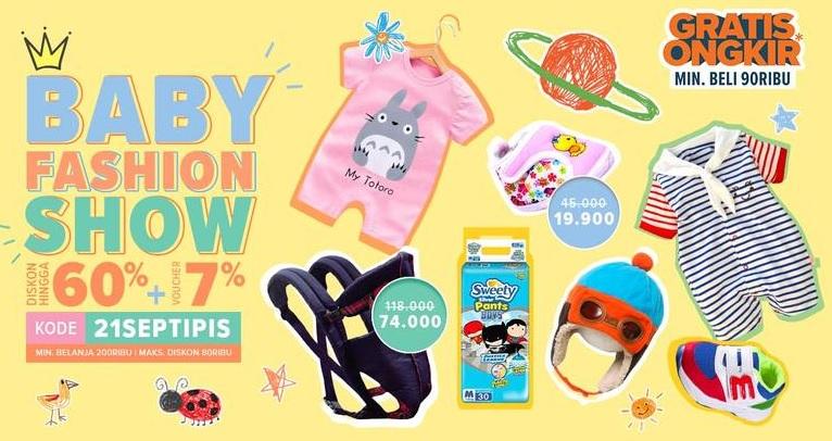 Lazada - Promo Baby Fashion Show Diskon 60% + 17% Pakai Voucher