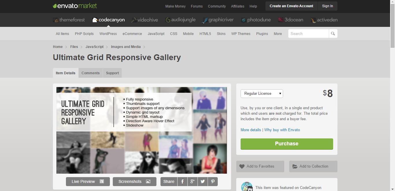 Ultimate Grid Responsive Gallery