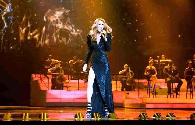 Show da Celine Dion em Las Vegas no Colosseum
