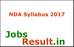 NDA Syllabus 2017