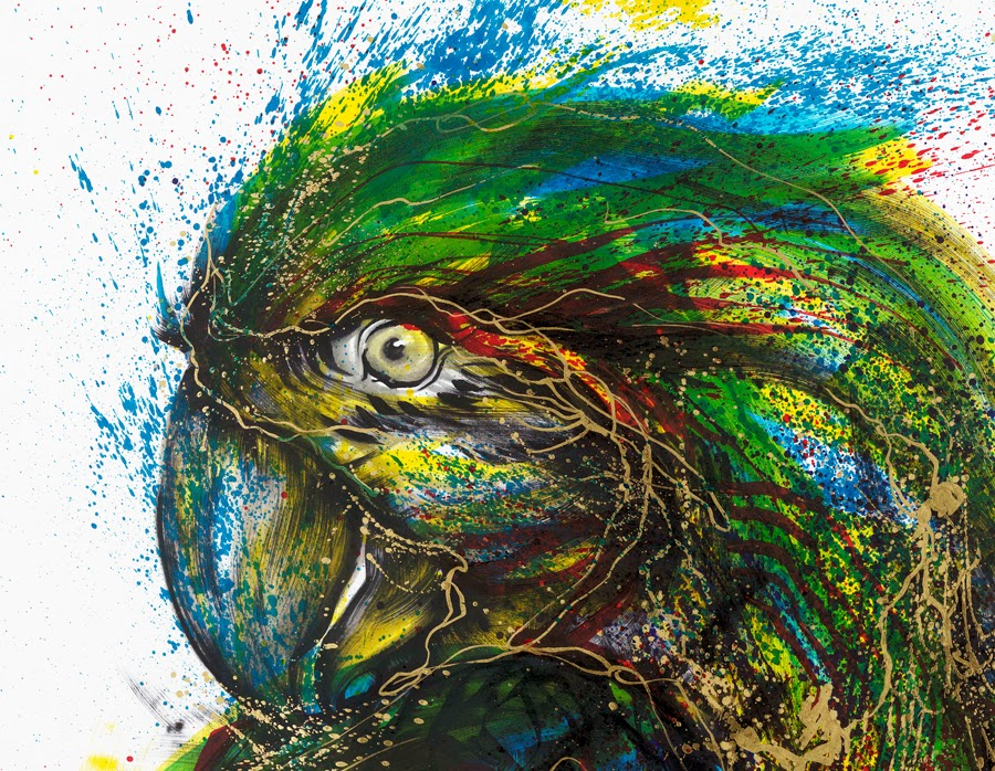 12-Parrot-2-Hua-Tunan-huatunan-Melting-&-Running-Ink-Drawings-www-designstack-co