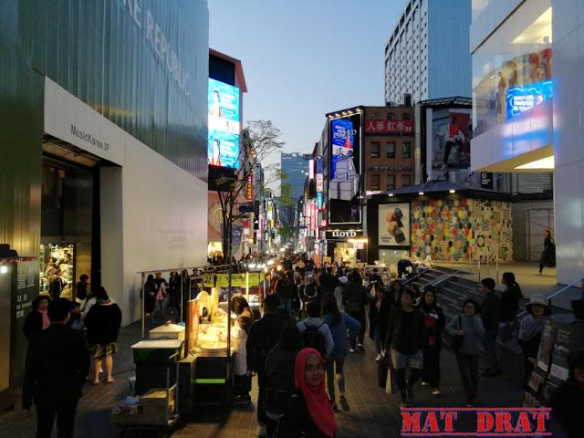 Myeong-Dong Market Shopping Kosmetik Trip Percutian Seoul