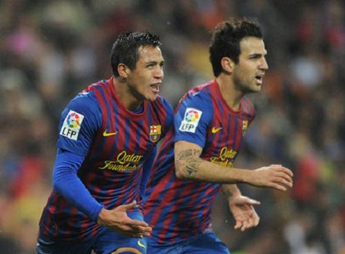 Cầu thủ Alexis và Fabregas có khả năng sẽ chia tay Nou Camp
