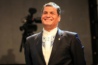 Ekvadora Prezidento Rafael Correa