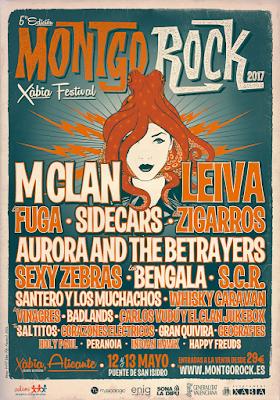 Montgorock Xavia Festival 2017 CARTEL COMPLETO