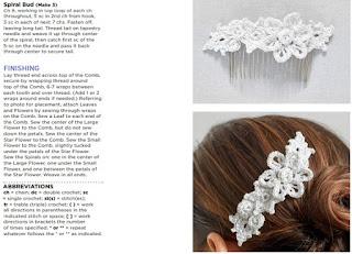peineta, adorno pelo, crochet, flores