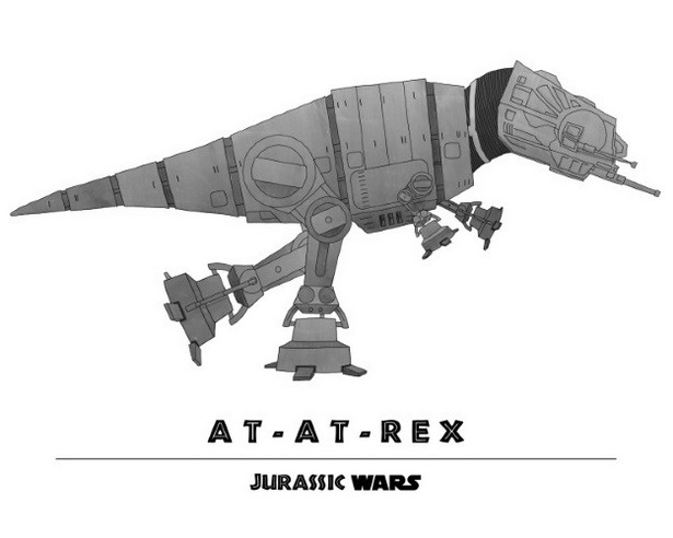 AT-AT Walker + T-Rex = AT-AT-Rex