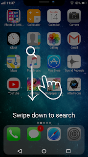 android phone ko iPhone x jaise kaise bnai.