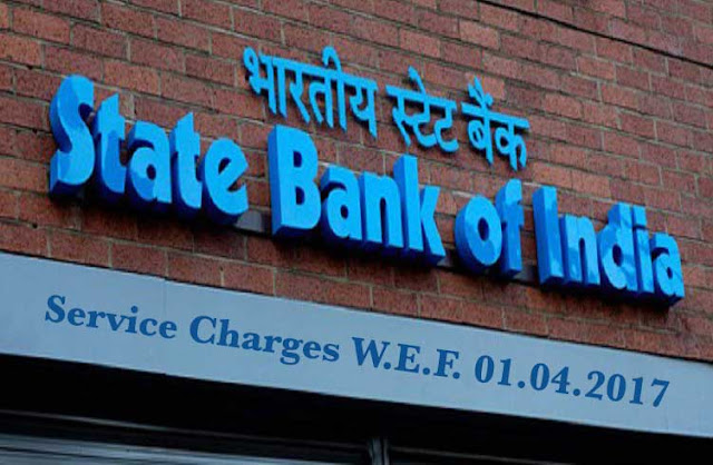 SBI service charges 2017,SBI revised rate new