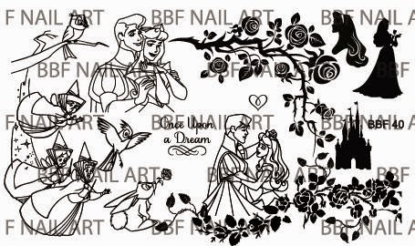 Lacquer Lockdown - Loja BBF, nail art stamping blog, nail art stamping plates, lace, beauty and the beast,, sleeping beauty, malificent, sugar skulls, nail art, stamping, tattoos, roses, stained glass, new nail art stamping plates 2015, new nail art image plates 2015, diy nail art, cute nail art ideas, aurora, prince charming