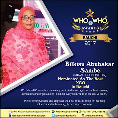 WHO is WHO Awards 2017 - Nominee for BEST NGO in Bauchi State (Photo/Video)