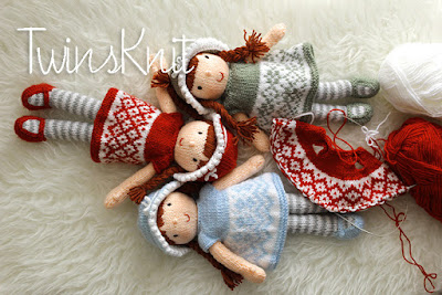 Mirabella knitted doll - pattern by TwinsKnit