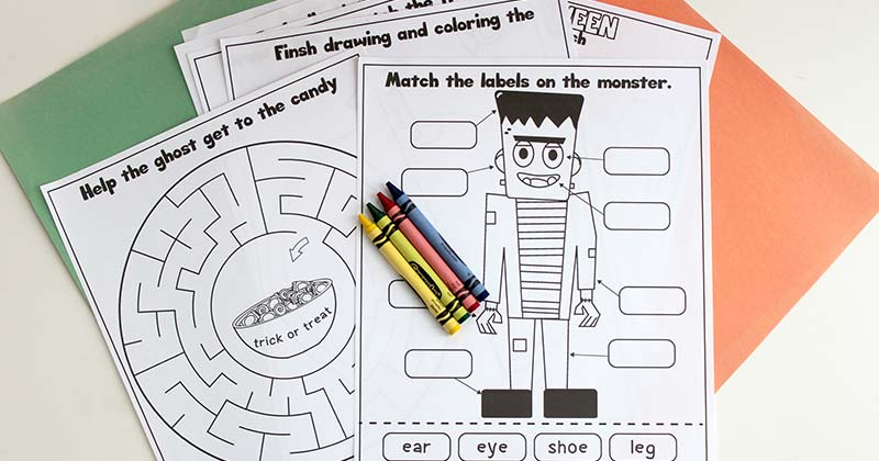 Printable Halloween Activity Pages For Kids Sunny Day Family
