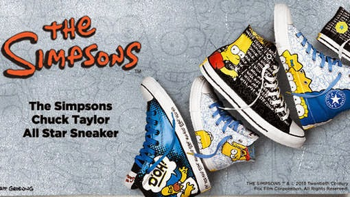 2f1642fc8ab8db Converse launches the first-ever Simpsons footwear collection. The Converse  Chuck Taylor All-Star ...