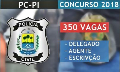 Concurso Polícia Civil do Piauí - PC/PI 2018